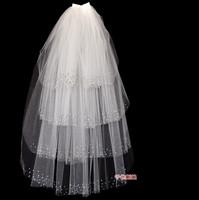 Bridal veil multi-layer rhinestone veil the bride wedding accessories crystal veil the wedding veil