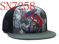 snapbacks hats,high quality and free shipping! nice black Transformers2 grey snapbacks hat MIX order sell snapbacks SN7258