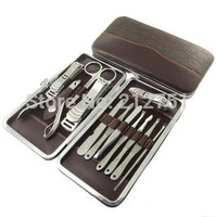 Top Quality12 in 1 Nail Clipper Kit Nail Care Set Pedicure Ear pick Utility Stainless Steel Manicure Set Tools