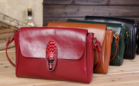 Hot sale ! 2014 spring women genuine leather handbags fashion vintage shoulder bag crocodile head messenger bags brand handbag
