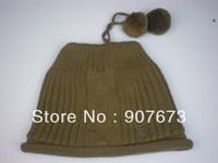 Free shippingWinter SKI Stretch Knit Beanie FOX Hat Women Cap Soft Warm Tow Functional EC7K