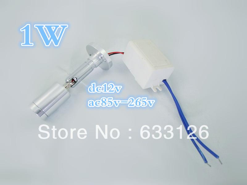 Free shipping, 4piece/lot, 1Wspotlight, cabinet lamp, desk lamp, hotel lights, CE/ROHS(China (Mainland))