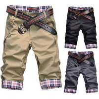 2013 spring trousers tidal current male slim summer men's clothing knee-length casual shorts male D-EDS017