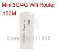 Wholesale 10pcs/lot Portable Mini 150Mbps 3G Wifi Router Hotspot suppport 3G 4G USB Modem Network Card rj45 Ethernet Cable