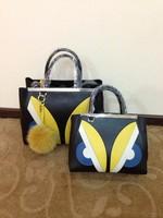Totes handbag Crayon bag with wareproof calfskin/lady bag