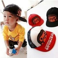 Hip-hop baseball cap cartoon Monkey 2 --- 8 years old children