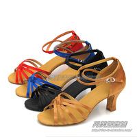 Latin dance shoes adult dance shoes ballroom dancing shoes senior satin