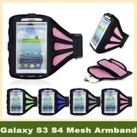 2 Piece Adjustable Armband Case Cover bracadeira para celular  arm cell phone holder for Samsung Galaxy S3 S4 with  Mesh Design