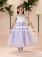 Simple Ankle Length Beautiful Flower Girl Dresses Organza Ball Gown Pageant Dress GA303