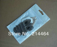 11x7cm plastic clear Zipper Retail Package poly bags Mobile phone  accessories packaging bag