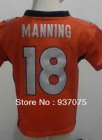 2-4 Years Old Baby Peyton Manning Jersey Orange #18 Peyton Manning Orange Football Jersey Wholesale Infant Jersey Shop