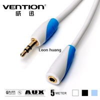Vention! Standard 3.5mm Male to Female Audio Cable White 5M Headphone Extension Cable For Computer/Cellphone/DVD/MP3