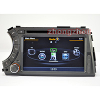 Free Shipping A8 Dual Core Ssangyong Actyon Kyron DVD GPS Audio Player 1GB CPU 512M DDR V-20 3-ZONE RDS BT DVR 3G WIFI Ssangyong