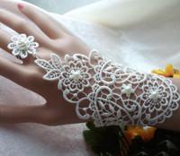 New Fashion Lace Bride Bridal Party Wedding Gloves Free Shipping Ring, bracelet Wedding Lace Gloves
