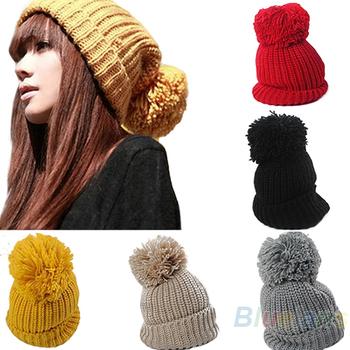Hight Quality 2013 Женщины's Winter Slouch Вязаная Cap Warm OverРазмерd Cuffed ...
