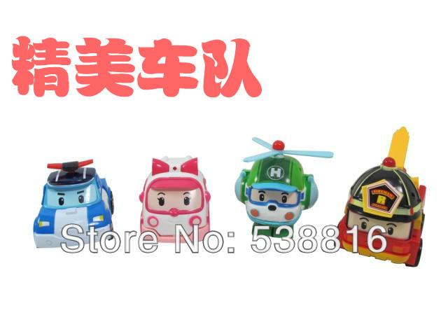 Robocar poli 4pcs 2.2''-4'' deformation car bubble South Korea Thomas toys 4models mix robocar poli(China (Mainland))