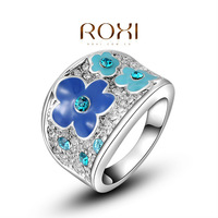 ROXI 2014New Design Classic Genuine Austrian Crystals Sample Sales Rose Gold  Plated  Wintersweet Ring Jewelry Party OFF