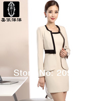 2014 New Fashion work wear skirt  Winter and Autumn slim OL women's formal  Skirt Suits S-3xl Plus Size Suits
