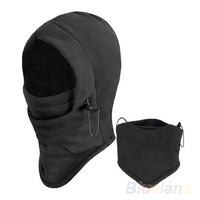 Hot Sale Thermal Fleece Balaclava Hood Police Swat Ski Bike Wind Winter Stopper Face Mask For Skullies & Beanies 05AG