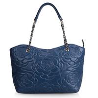 Fashion embroidery 2013 chain women's handbag one shoulder handbag sheepskin women's bag genuine leather 0391