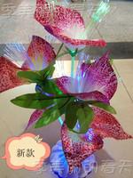 Fiber optic mantianxing colorful flower flash mantianxing optical fiber flower calla lily