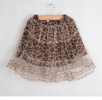 New arrial baby girls  leopard tutu skirt baby kids lace leopard tutu clothing free shipping