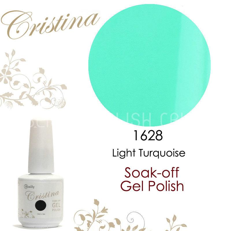 2014 Cristina New Arrival Light Turquoise UV Gel Polish 15ml 0.5oz Nail Gel Free Shipping(China (Mainland))