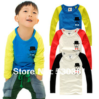 New 2014 kids clothes 1~8 Age children t shirts, Multicolor optional Children clothing t-shirts, Mustache Children's T-shirt