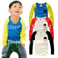 New 2015 kids clothes 1~8 Age children t shirts, Multicolor optional Children clothing t-shirts, Mustache Children's T-shirt