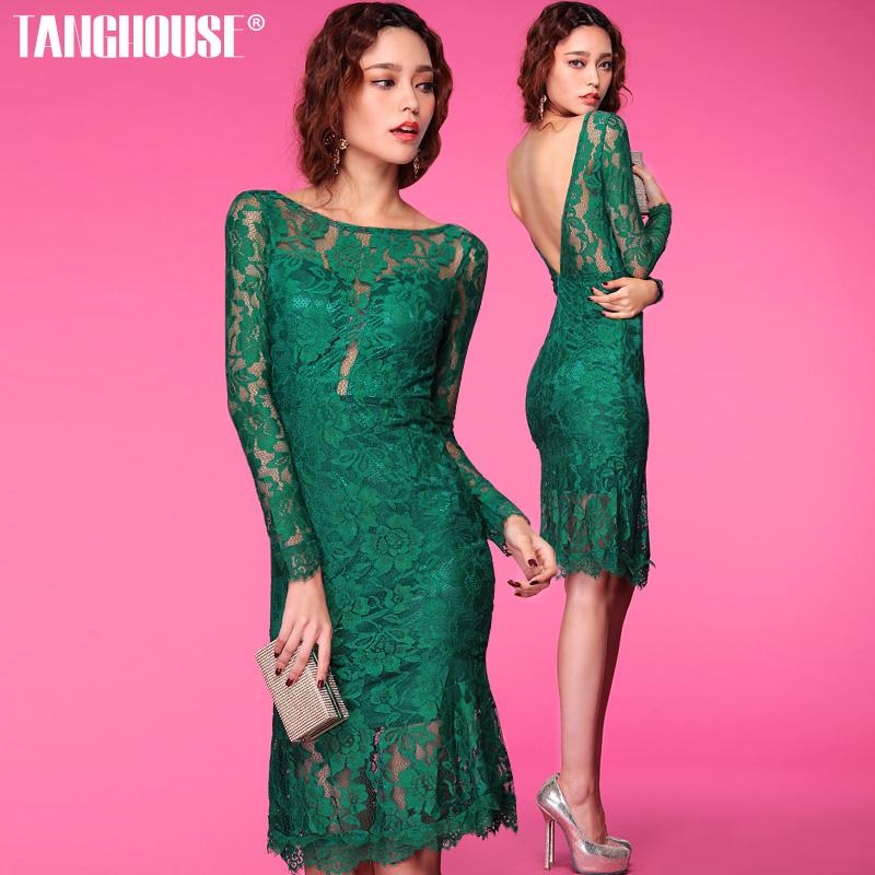 emerald green long sleeve lace dress « Bella Forte Glass Studio