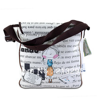 High quality neoprene messenger bags with big capacity, students cute design shoulder bags SO-243