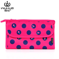 New women's fashion cosmetic bag dots handbag storage purse bag multi travel tote cherry print pouch china famous brand quality
