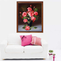 Diamond painting rose square drill full rhinestone diamond rhinestone pasted painting cross stitch crystal decorative painting