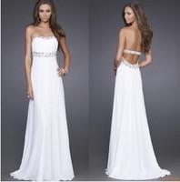 2014 New Fashion Floor Length Long Leak Back Sexy Slim Formal Robe De Soiree For Party Vestido de Fiesta Longo Evening Dress