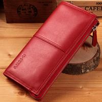 Women's long design zipper wallet genuine leather clutch male long design wallet cowhide large capacity purse bag