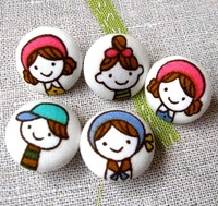 Fabric child baby sweater buttons quality cloth metal button
