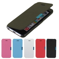 Fashion Pouch Leather Thin Flip Hard Plastic Magnetic Style Cover Case For iPhone 5C Phone Shell New Arrival