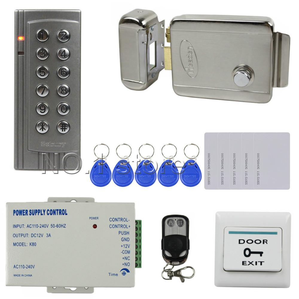 diy remote control 125khz rfid em id card reader keypad door access control system kit. Black Bedroom Furniture Sets. Home Design Ideas