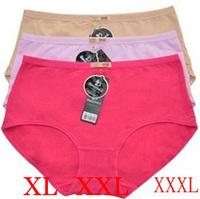 High Quality  5 Pcs/lot Women Cotton Underwear Sexy  Lingerie Plus Size XL/XXL/XXXL 8 Colors
