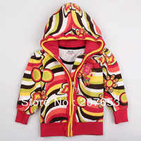 2014 new high quality NEW Free shipping 5pcs/lot children clothing baby girls outerwear jacket girls zipper hooded coat 1-6years
