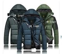 2014 New Arrival Winter Men Branded Sportswear Parka Windbreaker Down coat Sports thickening jackets casual Sportswear hoodies