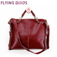 FLYING BIRDS! 2014 Hot Selling !European and American Shoulder Messenger bag women leather handbags LS1333