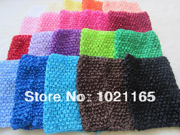 10pcs/lot New Arrival 14cm X 16cm Baby Girl 6Inch Crochet Tutu Tube Tops Chest Wrap Wide Crochet headbands Free Shipping(China (Mainland))