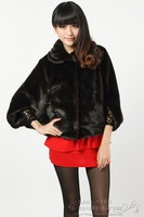2012 autumn and winter fashion imitation mink fur velvet cape female outerwear cloak cape