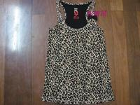 Women's undiz 2013 female long design slim leopard print spaghetti strap basic shirt spaghetti strap vest