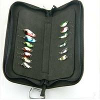Hot !! 13pcs/Set with bag Fishing Lure Laser Spinner Metal Lure box ,Lure Kit, Fishing Baits,Fishing tackle ,free shipping