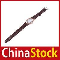 [ChinaStock] Stainless Steel Quartz Style Wrist Leather Strap Watch Womens Fashion 472 wholesale