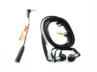 Black MH1 Livesound Hi-Fi Stereo In-Ear Headphones Earphones Headset Head-sets Earpieces + EC250 Converter Adapter