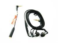 Black MH1 Livesound Hi-Fi Stereo In-Ear Headphones Earphones Headset Head-sets Earpieces + EC250 Converter Adapter