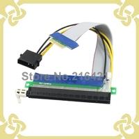 PCI-E PCI E Express 1X to 16X Adapter Converter Riser Card Extender Flexible Extension Cable 20cm